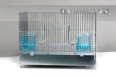 Stalen kooi 1-delig 29x39x23 cm (hxbxd) met ijzeren voorklep lade en bodemrooster
