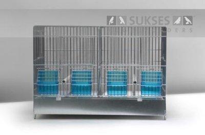 Stalen kooi 1-delig 32x45x25 cm (hxbxd) met plastic lade bodemrooster en middenschuif