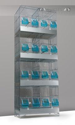 Stapelkooi 4-delig 120x45x25 cm (hxbxd) met plastic lade bodemrooster en middenschuif