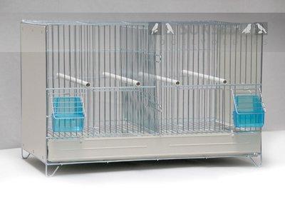 Broedkooi gegalvaniseerd 34x55x31 cm (hxbxd) met middenschuif plastic lade en bodemrooster