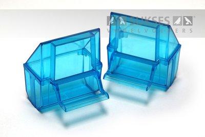 Plastic voerbakje blauw voor kooiserie 31/1 t/m 55/2