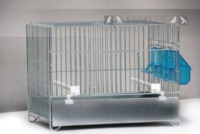 Stalen kooi 1-delig 23x31x20 cm (hxbxd) met ijzeren voorklep lade en bodemrooster
