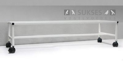 Ijzeren onderstel op wielen met rem voor 120/40 kooiserie 30x120x40 cm (hxbxd)